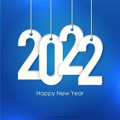 Free Blue New Year Background 2022 Image