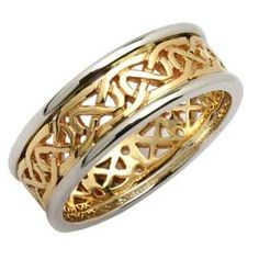 Ladies Two Tone Celtic Knot  Band