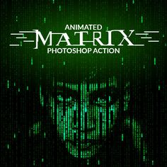 Animated Matrix Photoshop Action — Photoshop PAT #matrix animated gif action photoshop code falling raining letter number #programming computer effect run php html pyton net pascal node • Available here → https://graphicriver.net/item/animated-matrix-photoshop-action/18931099?ref=pxcr