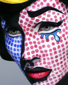Make-up idee? tover jezelf om in een stripfiguur! #dressesonly #inspiration #halloween #comic #makeup