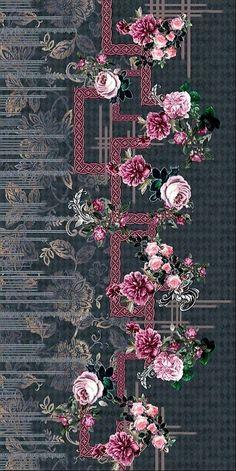 Textile Pattern Design, Textile Patterns, Pattern Art, Print Patterns, Flowery Wallpaper, Print Wallpaper, Textile Prints, Floral Prints, Printable Scrapbook Paper