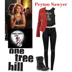 Peyton Sawyer One Tree Hill by blackhawks123 on Polyvore featuring J Brand and Burton