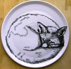 An elegant hand-drawn plate for your cabin. $69 at Jim Bob Art.