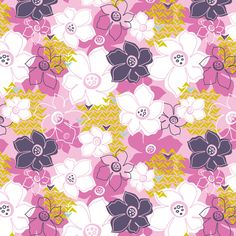 Heather Dutton | Petals & Pods Fabric [ In Festive Colorway ] @Modern Yardage