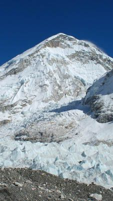 The Khumbu Ice Fall is the closest to Mount Everest we're ever going to get, and we're more than okay with that.