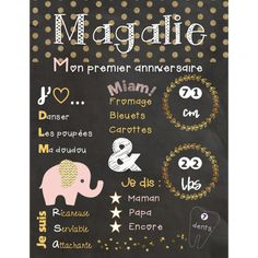 Affiches d'anniversaires de bébé Chalkboard Quotes, Art Quotes, Creations, Birthday Posters, Birthdays, Bebe