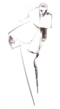 Couture fashion illustration by Katharine Asher