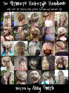 The ultimate hairstyle handbook- step-by-step picture tutorials.