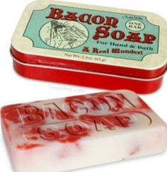 bacon soap-I am buying this for Ben next Christmas!