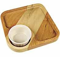 MLCS Acrylic Square Bowl and Tray