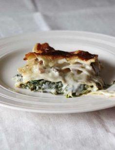 Kale and mushroom lasagne