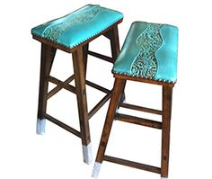 Page not found - Cowhide Western Furniture Western Furniture, Diy Furniture, Turquoise Bar Stools, Bar Cart Decor, Leather Stool, Southwest Decor, Southwestern Decorating, Leather Tooling, Tooled Leather