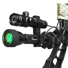 Green Laser Bow Sight + 20mm Rail CNC Stabilizer, Mathews, Hoyt, Browning, PSE
