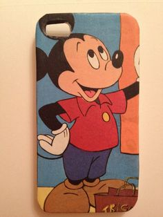 Vintage Mickey Mouse iPhone Case Decoupage by Cases4U on Etsy, $15.00