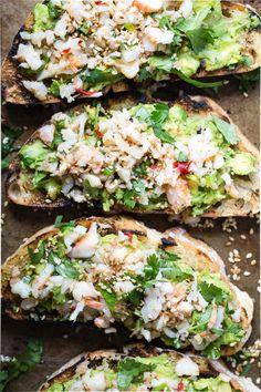 Avocado Toast with Sesame Shrimp