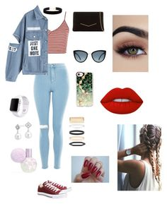 """Untitled #72"" by andreasoria014 ❤ liked on Polyvore featuring Topshop, KoKo Couture, Converse, Casetify, Accessorize, Blue Nile, Eloquii, Apple and Lime Crime"