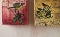 Set of 2 Bird Canvases from Through the Country Door®