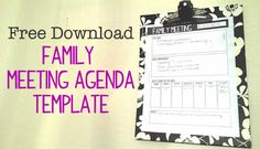 Do you have family meetings? Check out how this mom runs family meetings - and download the free family meeting agenda.