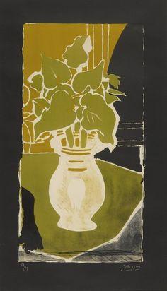 Georges Braque, Feuilles couleur lumière (Vallier 86) @artsy