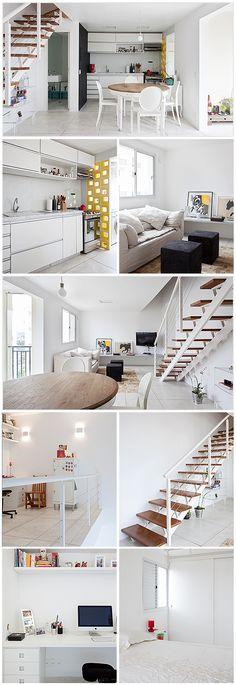 Projeto do Sub Estúdio. Apartamento duplex na Vila Madalena. Decoração e arquitetura.