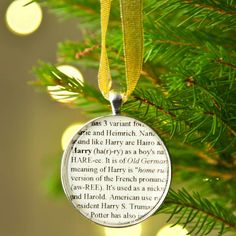 christmas name definition tree decoration by ellie ellie | notonthehighstreet.com