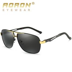 AORON Polarized Sunglasses Mens Luxury Brand Retro Goggles Women Designer  Leisure Glasses oculos de sol Eyewear 8521 with Case 7327ab8496