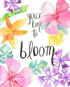 I am very happy to share this special series of printable art, that is not only really easy to print from the comfort of your home or local printshop, but is also close to heart. Based on my hand-drawn watercolor illustration, Your time to bloom will certainly make you feel inspired in any space. Add color to your wall, or next to your beside with this tropical print! Perfect for valentines day gift, birthday gift, anniversary, or just because!  Once purchased, you will receive a digital…