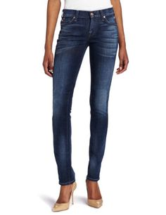 7 For All Mankind Womens Roxanne Slim Fit Jean in Brushed Desert Wind, Brushed Desert Wind, 32