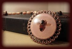 Apis Mellifera Real Honeybee Necklace    Insect by KillJarJewelry, $23.00