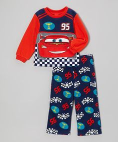 Take a look at this Red Cars Button-Up Pajama Set – Toddler - Infant & Toddler by Disney Pixar Cars on #zulily today!