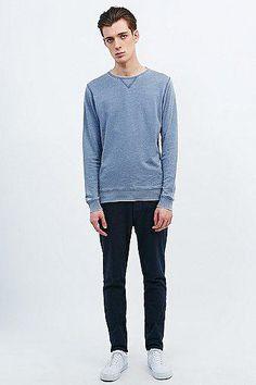 #covetmeSelected Homme Lean Sweatshirt in China Blue #sweater #selectedhomme #men #covetme
