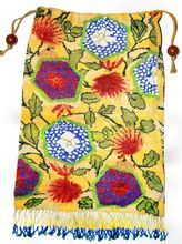 Crazy Glass Beaded Scenic Floral Vintage Purse