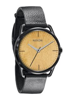 Wooden face watch from Nixon