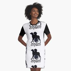 'Shaggy black dog-Sirius Black Animagi named Padfoot by the Marauders' Graphic T-Shirt Dress by