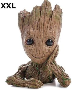 Groot Action Figures Fashion Guardians of The Galaxy Flowerpot Baby Cute Model Toy Pen Pot Best Christmas Gifts For Kids (Thinking tree) Baby Groot, Star Lord, Groot Costume For Kids, Galaxy Flowers, Groot Action Figure, Desk Gifts, Water Beads, Aquarium Decorations, Christmas Gifts For Kids