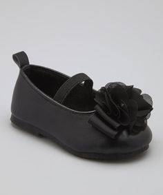 Love this Adorababy Black Flower Flat by Adorababy on #zulily! #zulilyfinds