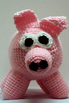 Crocheted amigurumi pig for Africa by WritingPlaces on Etsy, $15.00