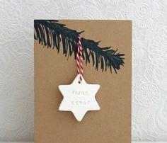 einfache weihnachtskarten basteln sterne zweige