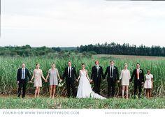 Group shot, maybe in front of the lake?  modern black gold wedding gauteng 046 Human & Cheska Stylish Bush Wedding