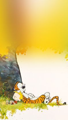 calvin and hobbes sleeptime  #iPhone #5s #Wallpaper
