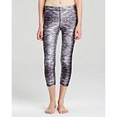 Zara Terez Black and White Bricks Capri Leggings