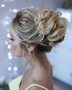 Messy Wedding Hair Updos For A Gorgeous Rustic Country Wedding To Urban Wedding - Finding the perfect wedding hairstyle isn't always easy.Bridal hairstyle #UpdosProm