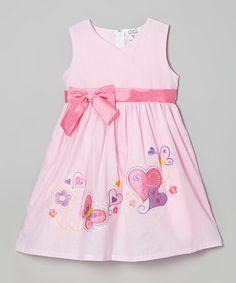Love this Pink Hearts A-Line Dress - Toddler & Girls by Littoe Potatoes on #zulily! #zulilyfinds