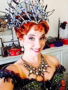 "Lyndsey Gardiner via Twitter 24 Sept 2014 ""Act 2 Cover Tech Rehearsal Today!! Loving my Carlotta Masquerade costume. Couldn't resist a Selfie."""