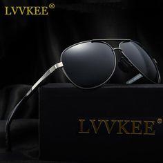 9ee8fff93c038 LVVKEE New Brand leisure Men s Sunglasses HD Polarized Car Driving for  women gafas masculino With Box. Oculos De SolMarca ...