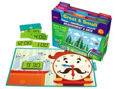 Students will have a blast with Lakeshore's ready-to-use folder games! They're designed to give practice with Common Core math skills—including measuring with nonstandard units, gathering data to make graphs and more! #Firstgrade