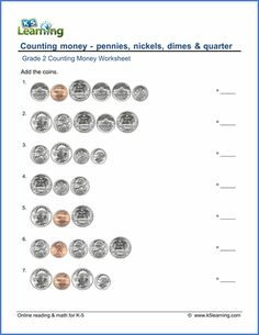 Grade 2 counting money worksheet on counting pennies nickels and grade 2 math worksheets on counting up to 6 pennies nickels dimes and quarters free pdf worksheets from learnings online reading and math program ibookread Read Online