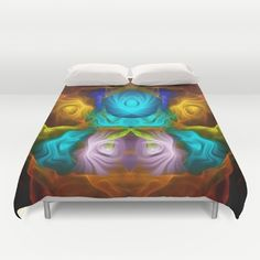 Everything in motion, colourful abstract Duvet Cover