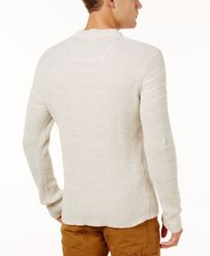 American Rag Men's Marl-Knit Sweater, Created for Macy's - Tan/Beige 3XL