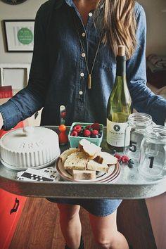 EAT : date night in - wine and cheese pairings printable menu